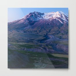 Mt. St. Helens Mountain Hiking Adventure Volcano Metal Print