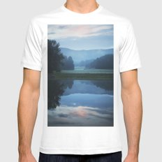 Sunset in the Great Smoky Mountains White MEDIUM Mens Fitted Tee