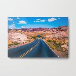 Valley of Fire panoramic road Metal Print