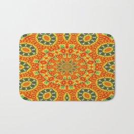 Kaleidoscope of Bold Orange Gazanias  Bath Mat
