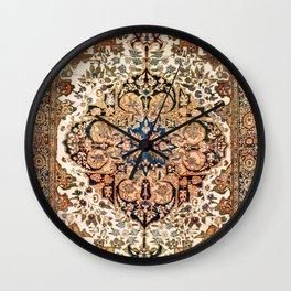 Ferahan Arak  Antique West Persian Rug Print Wall Clock