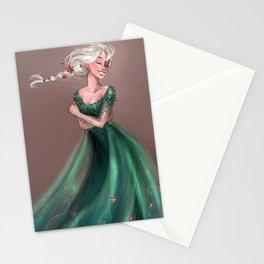 Flower dress Stationery Cards