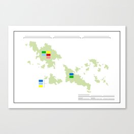 Anzac Map I Canvas Print