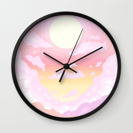 Pink light Wall Clock