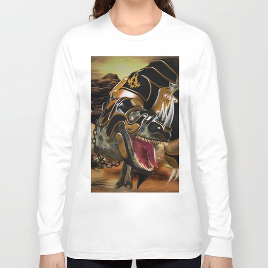 T-Rex with armor Long Sleeve T-shirt