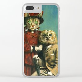 The Owl And The Pussy Cat Clear iPhone Case