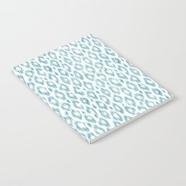 "Turquoise leopard pattern ""Leopold"" Notebook"