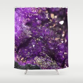 Geode Abstract Amethyst Shower Curtain