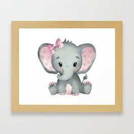 Cute Baby Elephant Framed Art Print