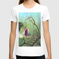 clueless T-shirts featuring Large Mouth Bass and Clueless Blue Gill Fish by Sonya ann