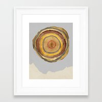 tree rings Framed Art Prints featuring Tree Rings by Rachael Shankman