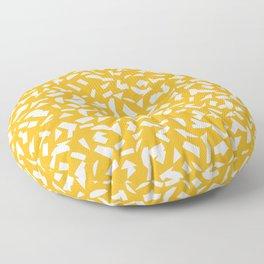 Semblance in yellow Floor Pillow