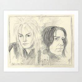 Magick Lives Forever Art Print