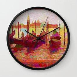 Venice Gondolas Abstracted Wall Clock
