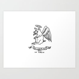 A healthy mind in a healthy swine Art Print