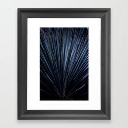 Blue Straws 2 Framed Art Print