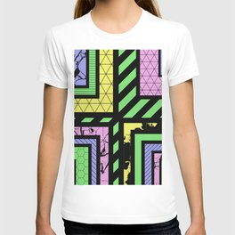 Pastel Corners (Abstract, geometric, textured designs) T-shirt