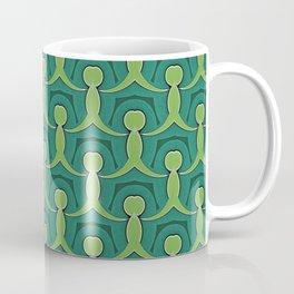 Green Village Pattern Coffee Mug