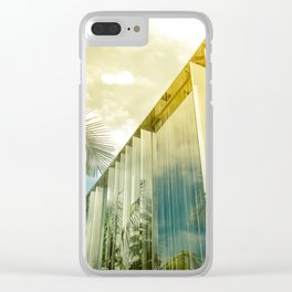 Beverly Hills - Palm Reflections II Clear iPhone Case