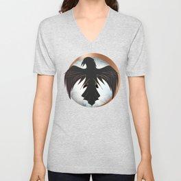 Rose Gold Raven Eclipse Unisex V-Neck