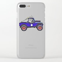 1955 Land Rover Clear iPhone Case