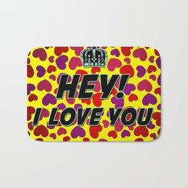 """I Love You """"Hearts"""" Bath Mat"""