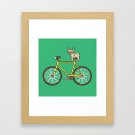 Frenchie on a Fixie Framed Art Print