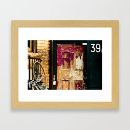 39 Framed Art Print