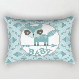 Baby Raccoon Rectangular Pillow