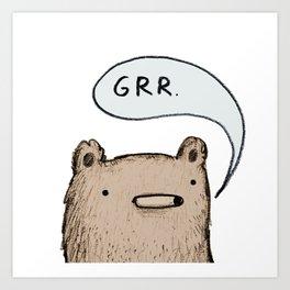 Growling Bear Art Print