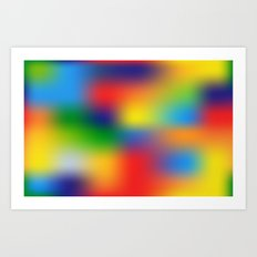 Abstract Colorful illustration Art Print