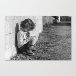 The Girl and her Boots Canvas Print
