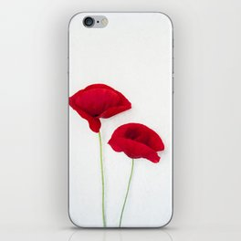 Two Red Poppies iPhone Skin
