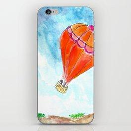 Hot Air Balloon Watercolor iPhone Skin