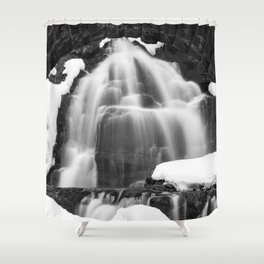 Winter Arch Waterfall Shower Curtain