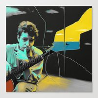 bob dylan Canvas Prints featuring Bob Dylan by Zmudartist