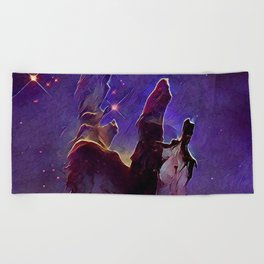 ALTERED Pillars of Creation Beach Towel