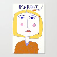 tenenbaum Canvas Prints featuring Margot Tenenbaum  by The Found and The Lost