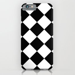 Rhombuses (Black & White Pattern) iPhone Case