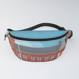 Cardiff Red Building One version two Fanny Pack