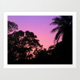 Bubblegum Sunset Art Print