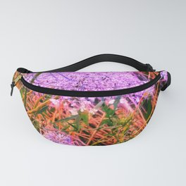 Blue Tinted Queen Anne's Lace Fanny Pack