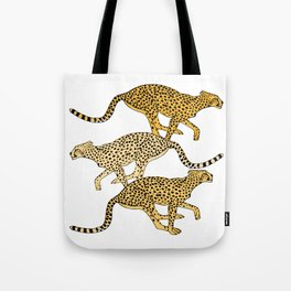 Go Cheetahs Go Pen and Ink by Lorloves Design Tote Bag
