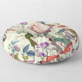Floral and Birds VIII Floor Pillow