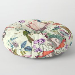 Floral and Birds VIII Floor Pillow