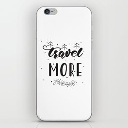 travel lettering iPhone Skin