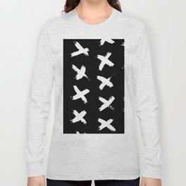 The X White on Black Long Sleeve T-shirt