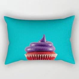 Cupcake Love - Royal Velvet on Aqua Rectangular Pillow