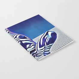 9124s-KMA Powerful Nude Woman Open and Free Striped in Blue Notebook