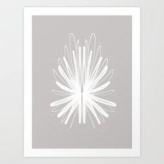 Gray Iris (Version 2) Art Print